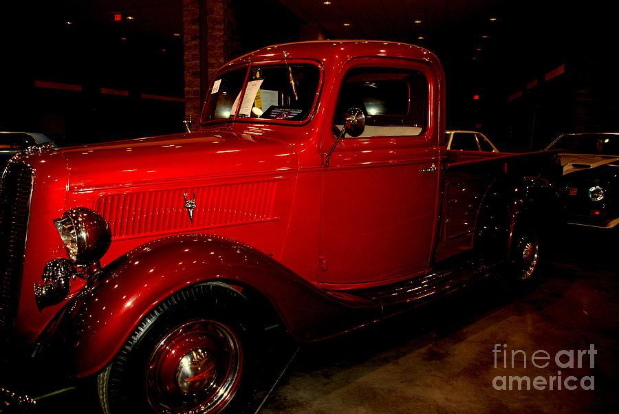 Red Ford Truck Photograph