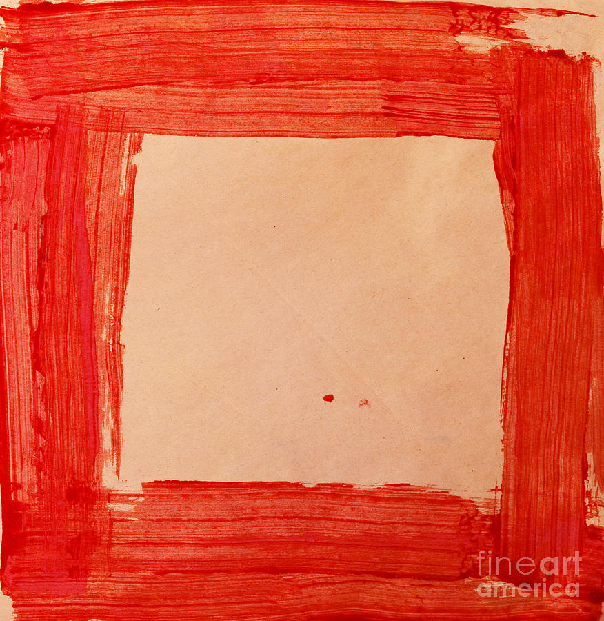 Red Frame   Painting  - Red Frame   Fine Art Print