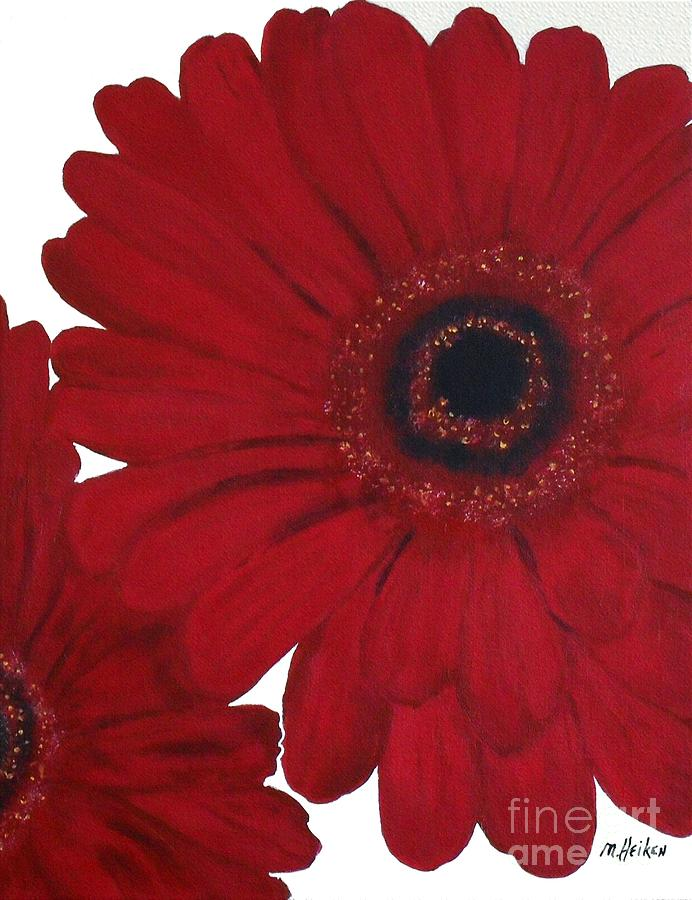 Red Gerber Daisy Painting  - Red Gerber Daisy Fine Art Print