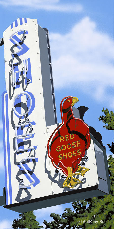 Red Goose Shoes Painting