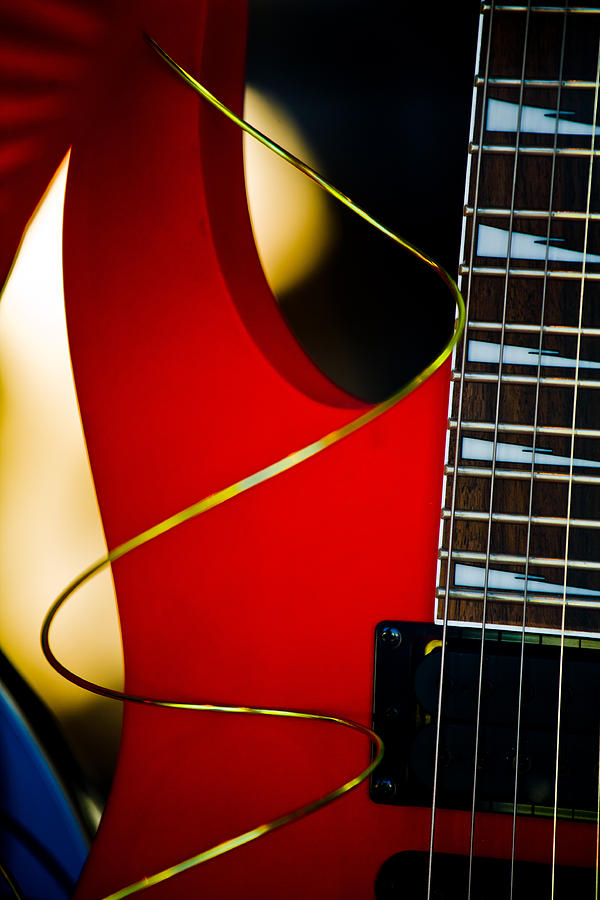Red Guitar Photograph