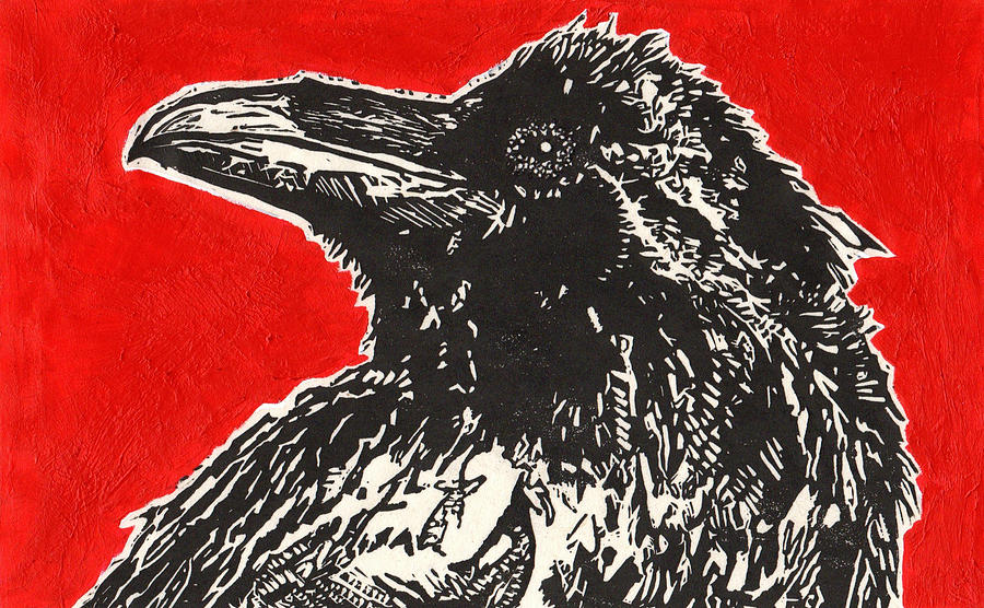 Red Hot Raven Painting  - Red Hot Raven Fine Art Print