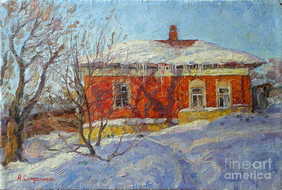 Red House Painting  - Red House Fine Art Print