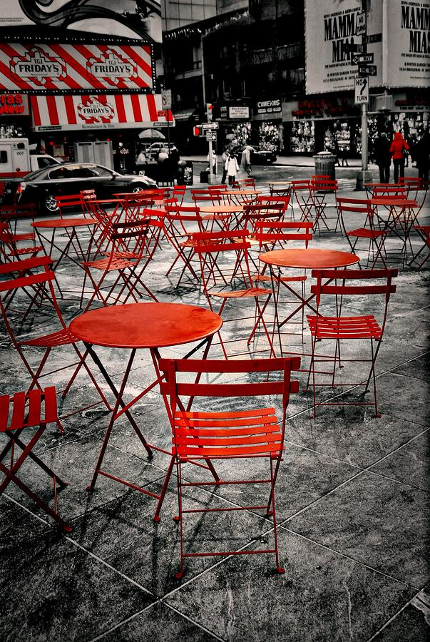 Red In My World - New York City Photograph  - Red In My World - New York City Fine Art Print