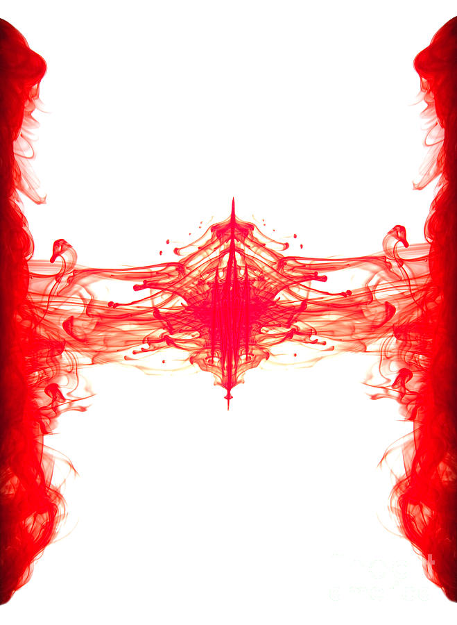 Red Ink Abstract Photograph