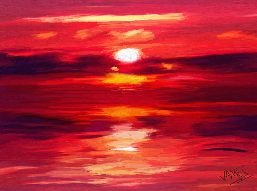 Red Painting  - Red Fine Art Print