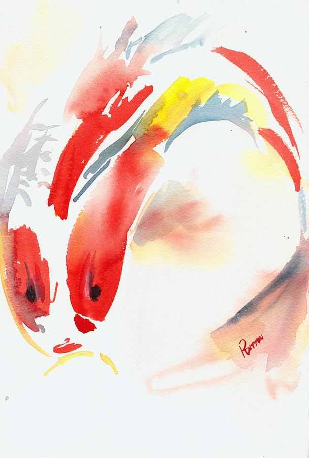 Red Koi Painting  - Red Koi Fine Art Print