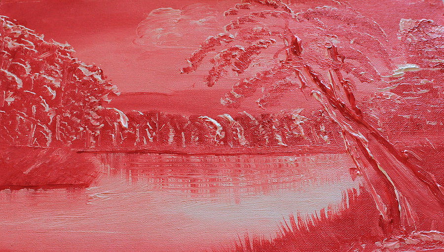 Red Landscape Painting