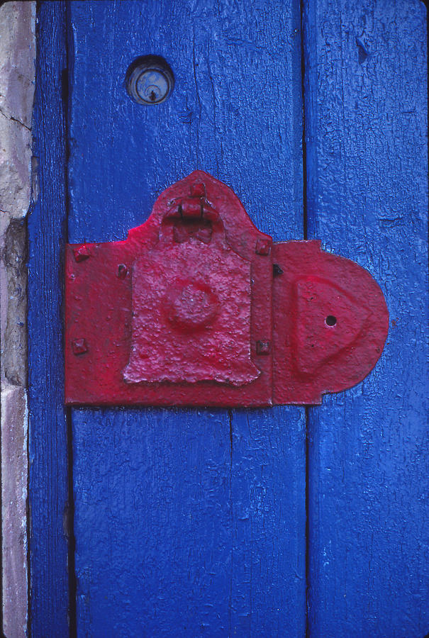 Door Photograph - Red Latch by Bob Whitt