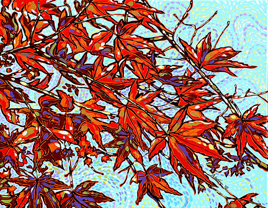 Red Leaves Painting  - Red Leaves Fine Art Print