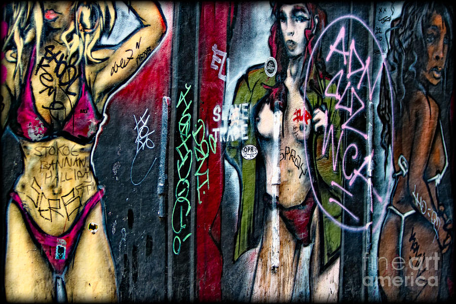 Red Light District Graffiti Photograph  - Red Light District Graffiti Fine Art Print
