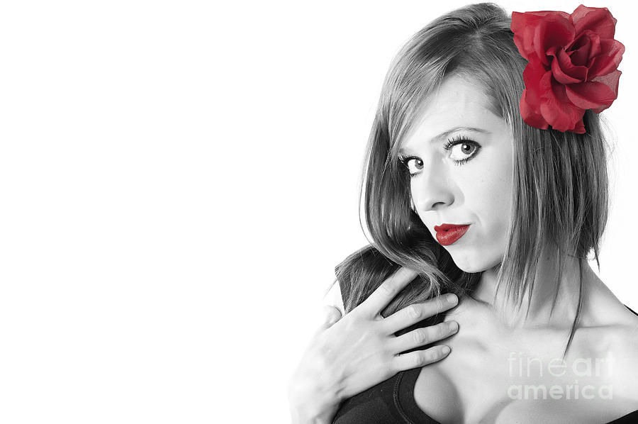 Red Lips Photograph  - Red Lips Fine Art Print