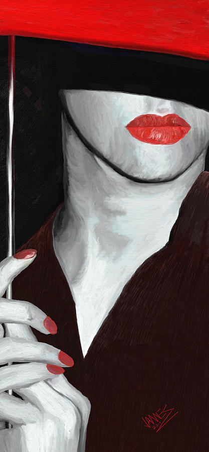 Red Lips Painting  - Red Lips Fine Art Print