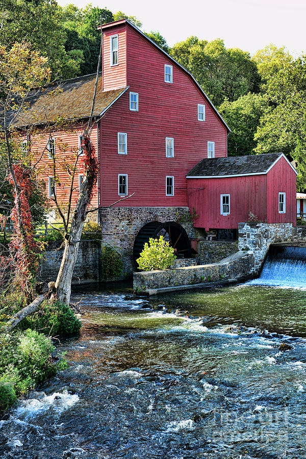 Red Mill On The Water Photograph