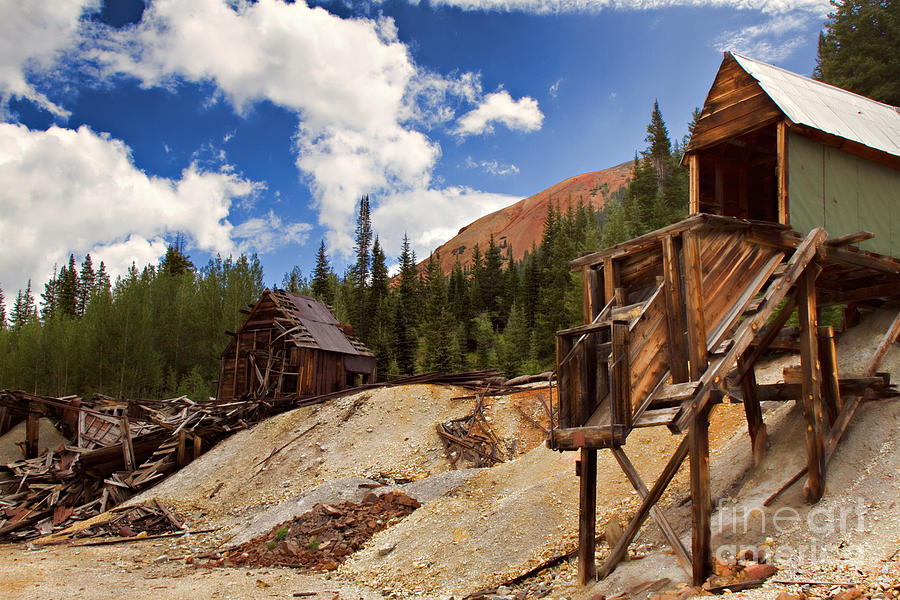 Red Mountain Mining - The Loader Photograph  - Red Mountain Mining - The Loader Fine Art Print