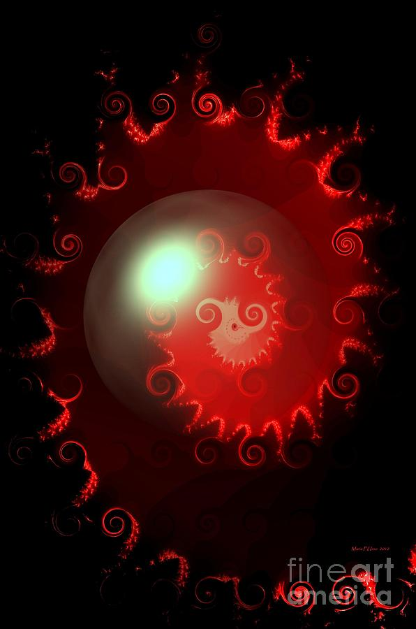 Red Nautilus Digital Art