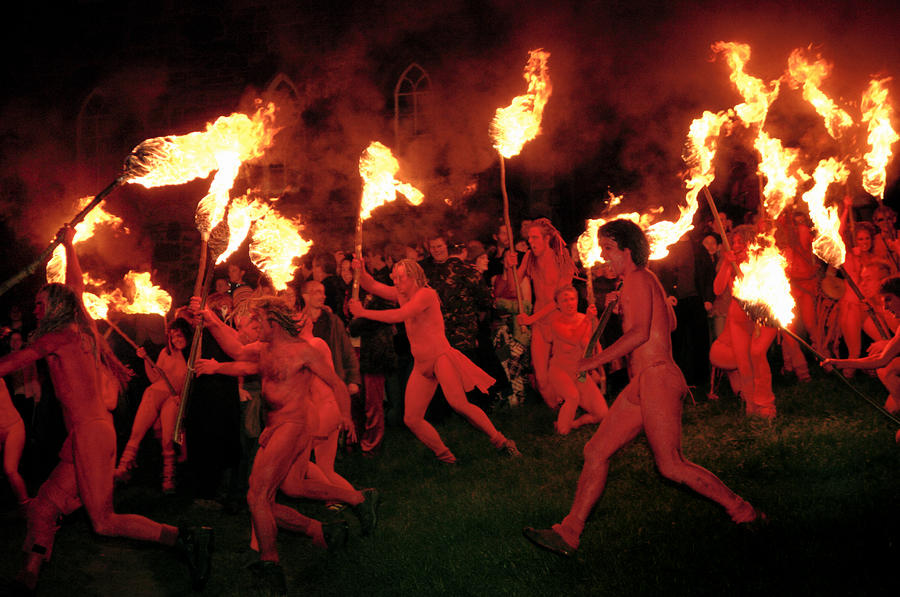 Red-painted Revelers Photograph
