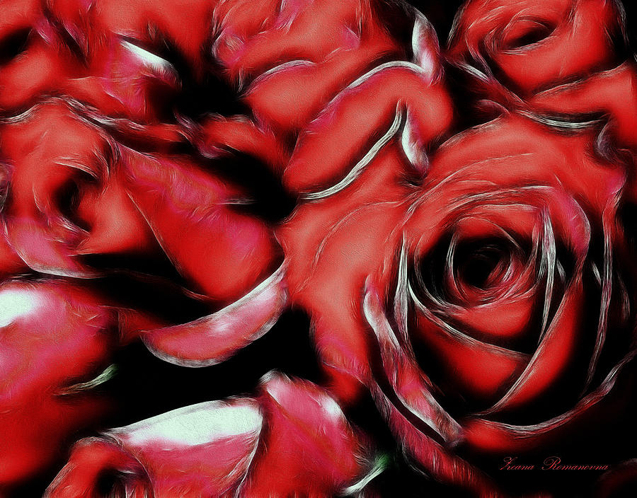 Red Passion Mixed Media  - Red Passion Fine Art Print
