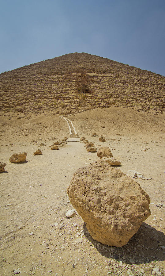 Red Path Of Red Pyramid Photograph  - Red Path Of Red Pyramid Fine Art Print