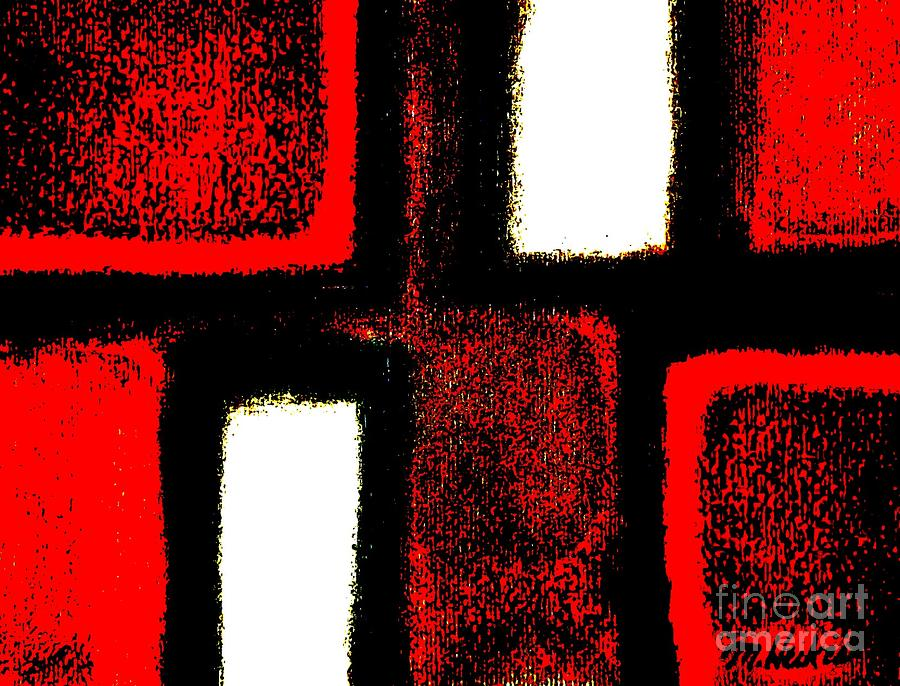 Red Plaid Digital Art  - Red Plaid Fine Art Print