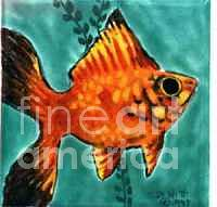 Red Platy Painting