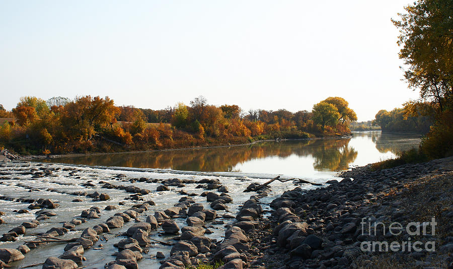 Rocks Photograph - Red River Fall Of The Year by Steve Augustin