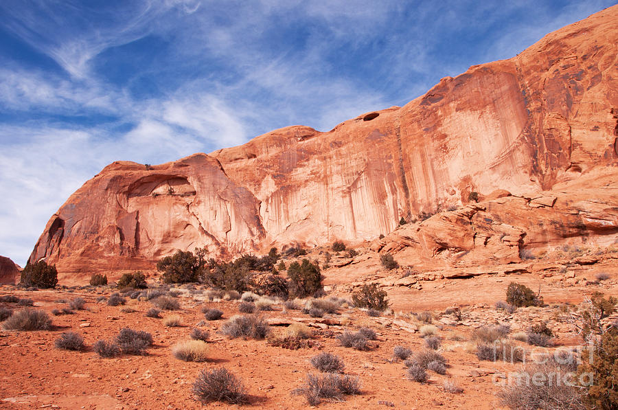 Red Rock Photograph - Red Rock And Blue Skies by Bob and Nancy Kendrick