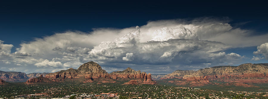 Red Rock Storm Photograph  - Red Rock Storm Fine Art Print