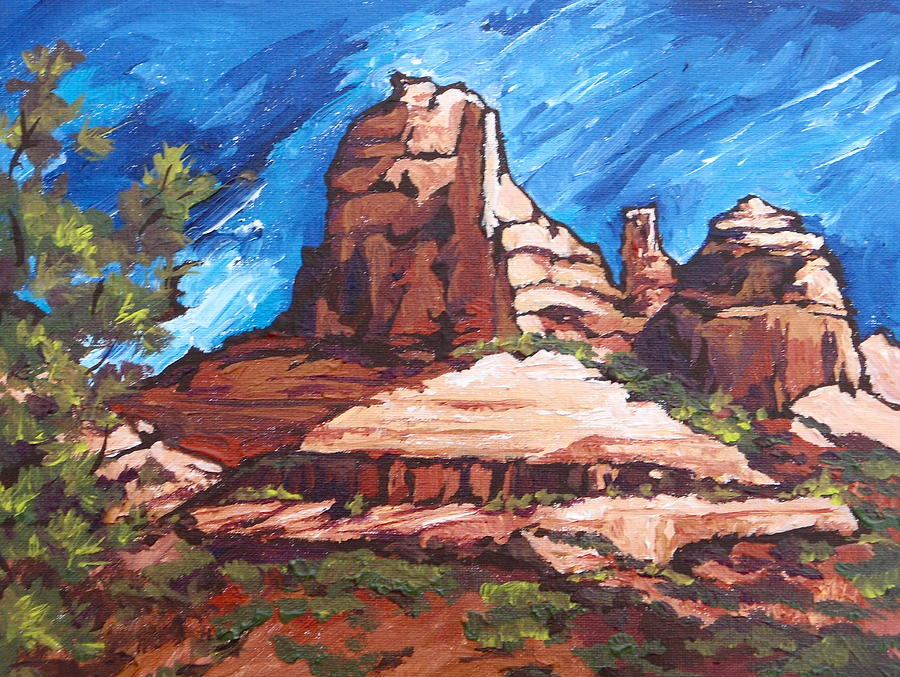 Red Rocks 2 Painting  - Red Rocks 2 Fine Art Print
