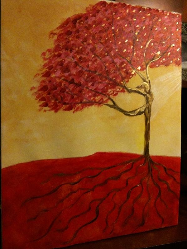 Red Rooted Tree Dancer Painting  - Red Rooted Tree Dancer Fine Art Print