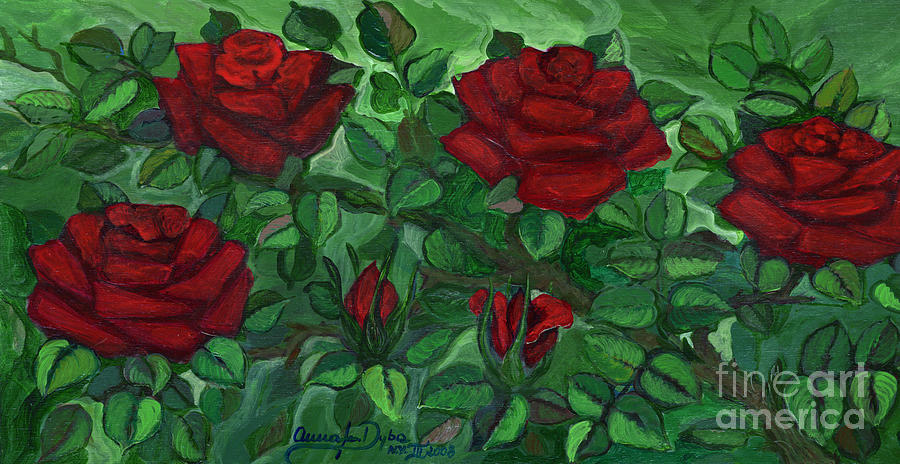 Red Roses - Horizontal Painting