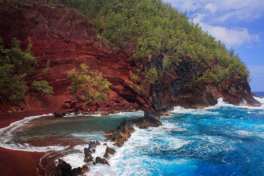 Red Sand Beach Photograph  - Red Sand Beach Fine Art Print