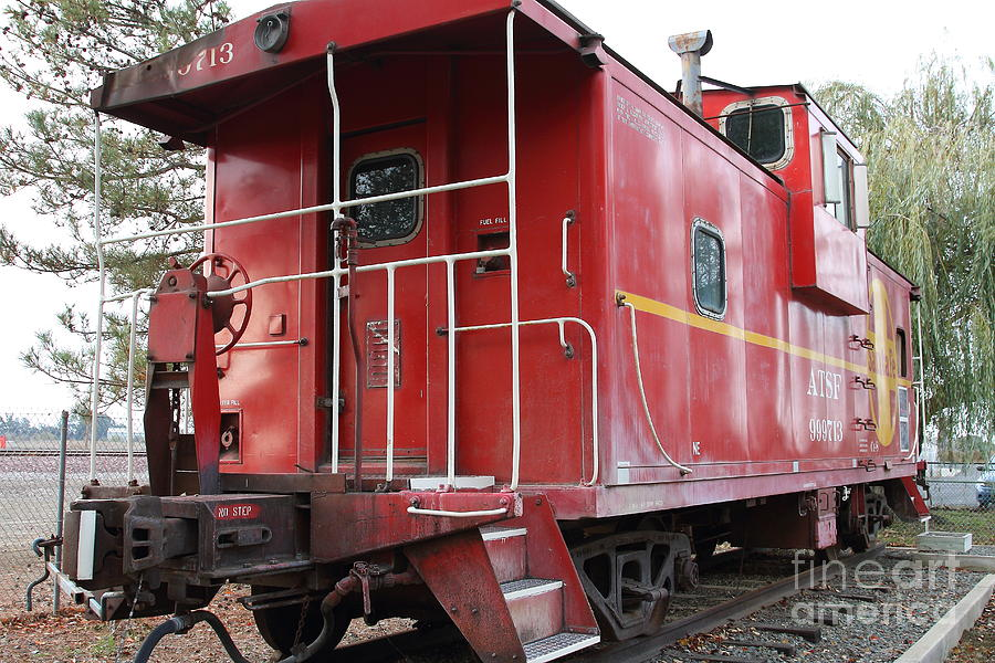 Red Sante Fe Caboose Train . 7d10330 Photograph