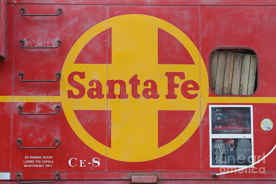 Red Sante Fe Caboose Train . 7d10333 Photograph