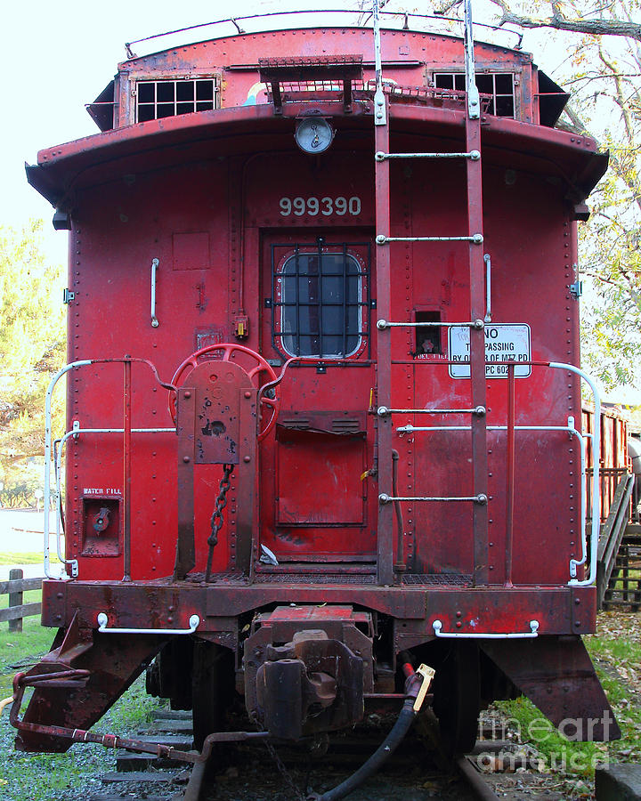 Red Sante Fe Caboose Train . 7d10476 Photograph