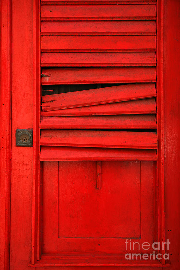 Red Shutter Photograph  - Red Shutter Fine Art Print