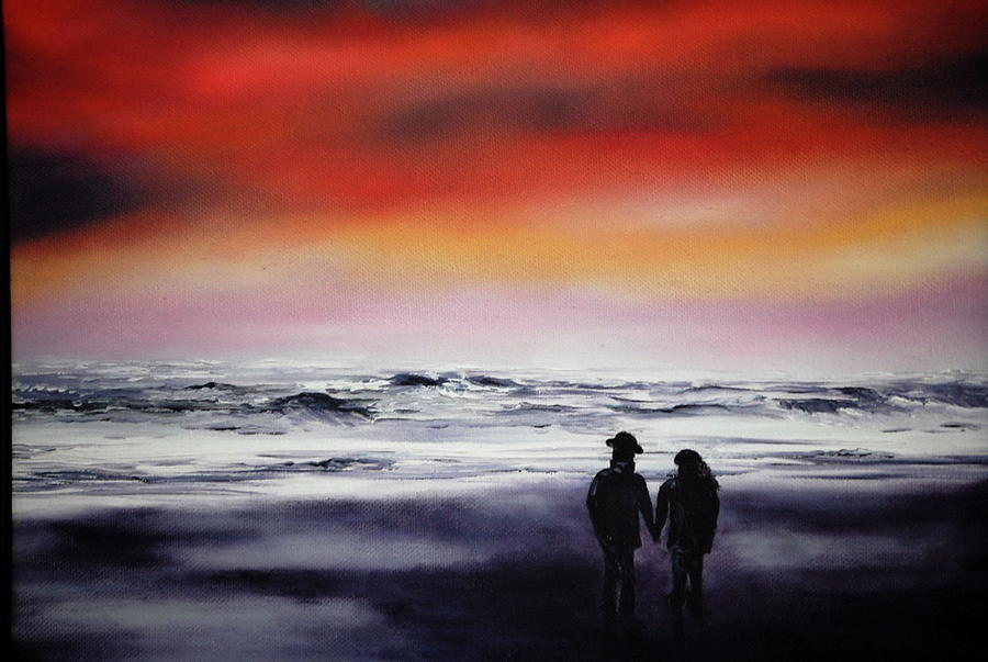 Red Sky Painting
