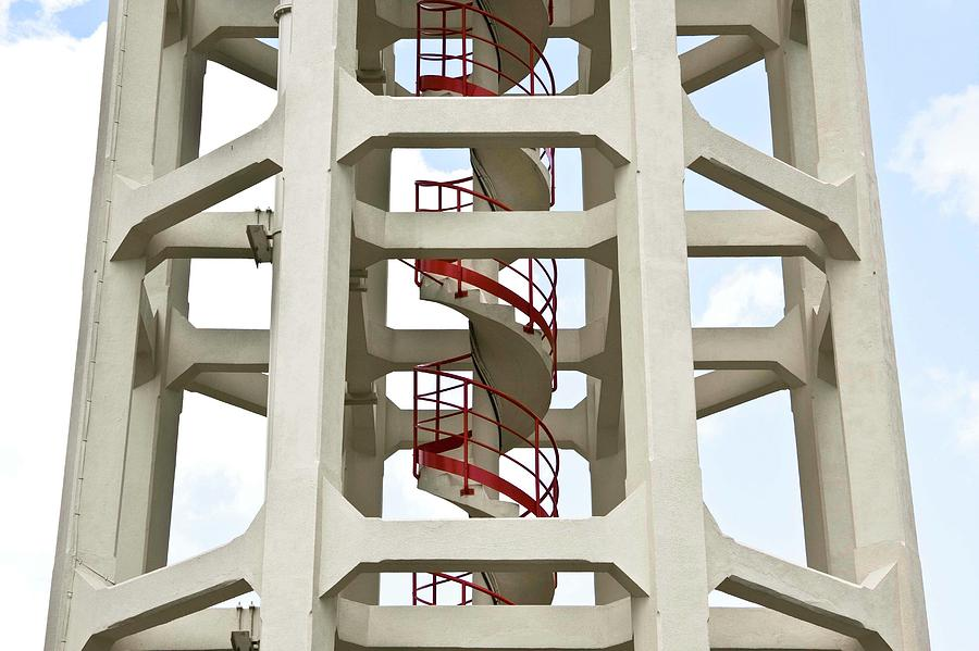 Horizontal Photograph - Red Stairway by Gerard Hermand