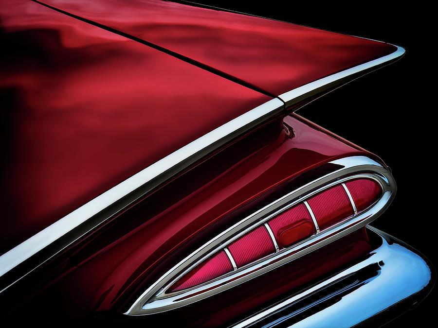 Red Tail Impala Vintage 59 Digital Art