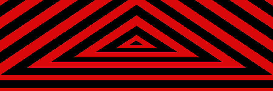 Red Triangle Digital Art  - Red Triangle Fine Art Print