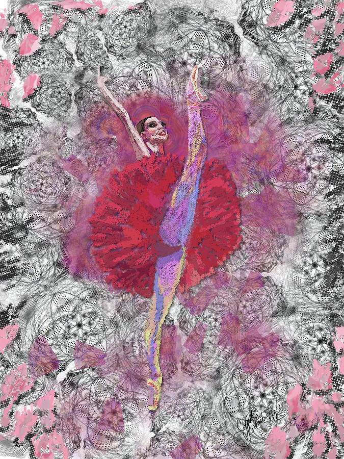 Red Tutu Digital Art