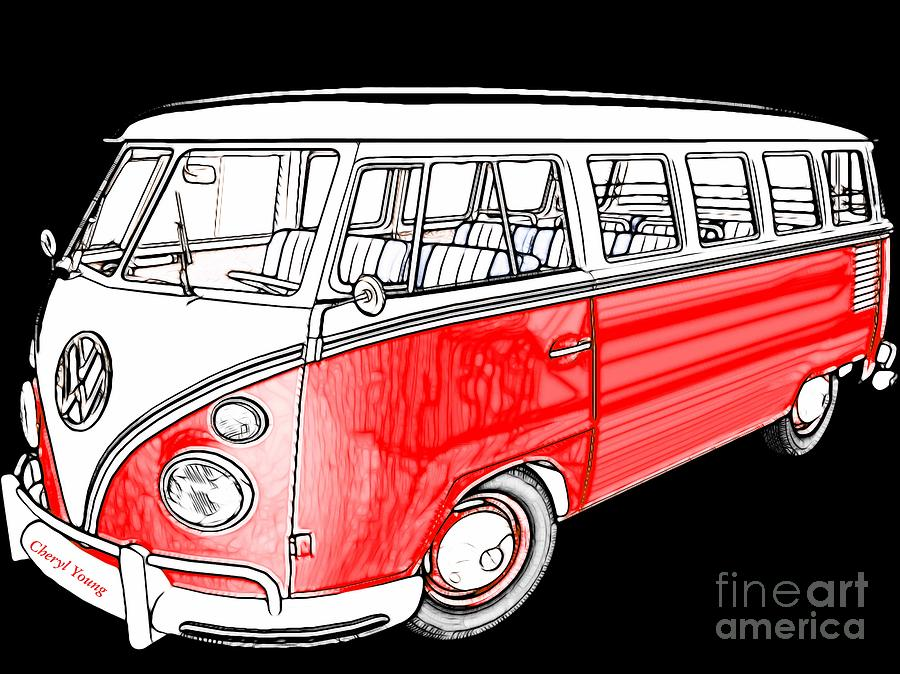 Red Volkswagen Photograph
