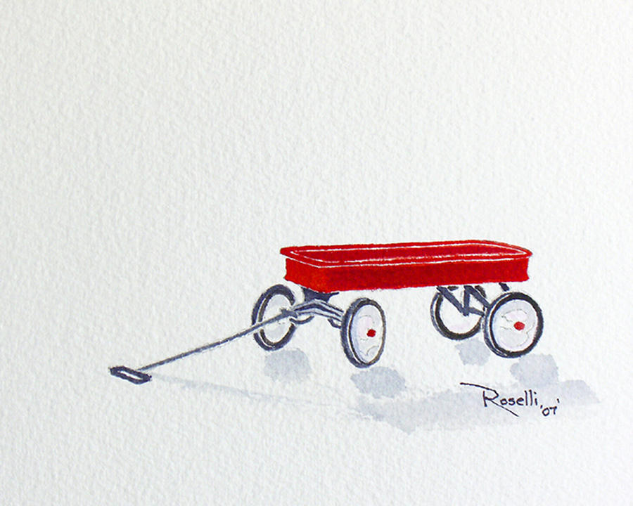 Red Wagon Painting
