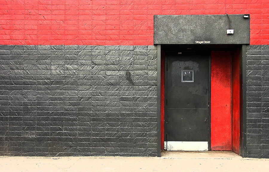 Red Wall Photograph  - Red Wall Fine Art Print