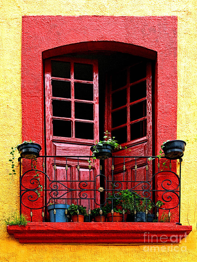 Red Window Photograph  - Red Window Fine Art Print