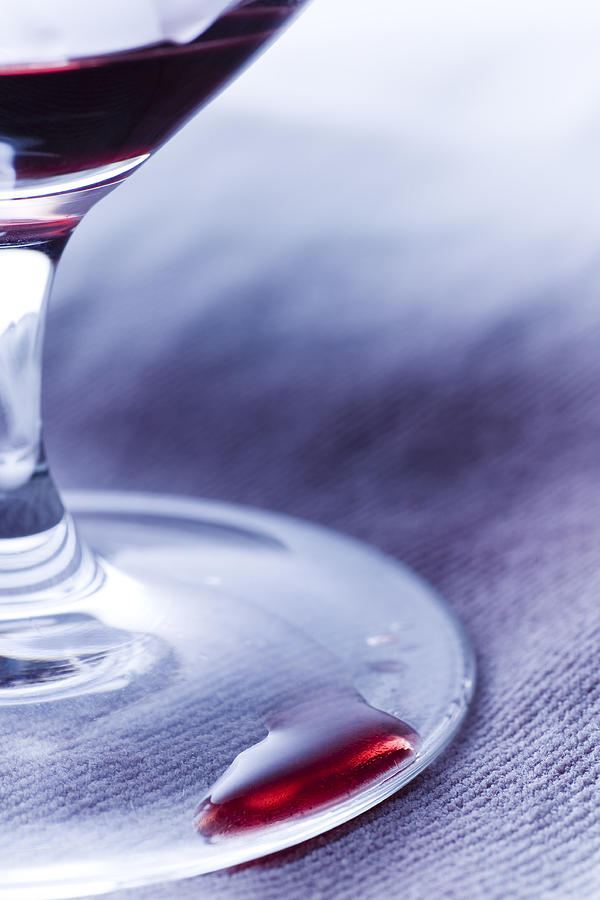 Red Wine Glass Photograph
