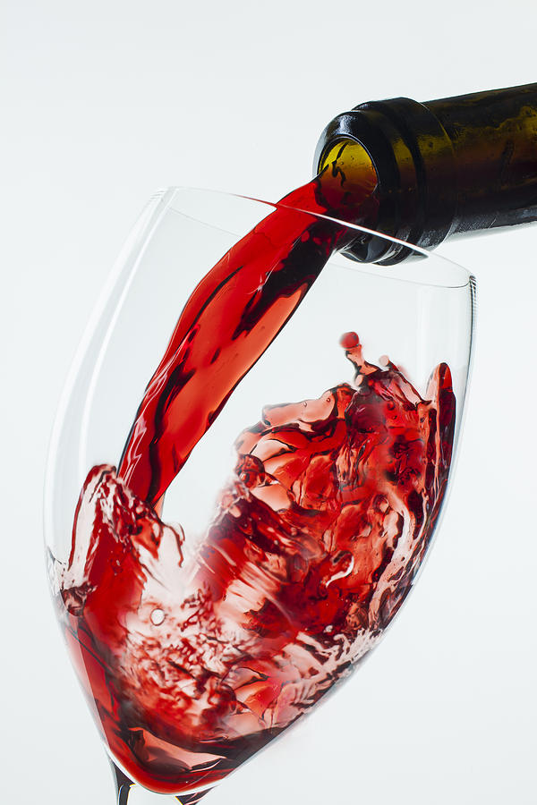 Red Wine Pour Photograph  - Red Wine Pour Fine Art Print
