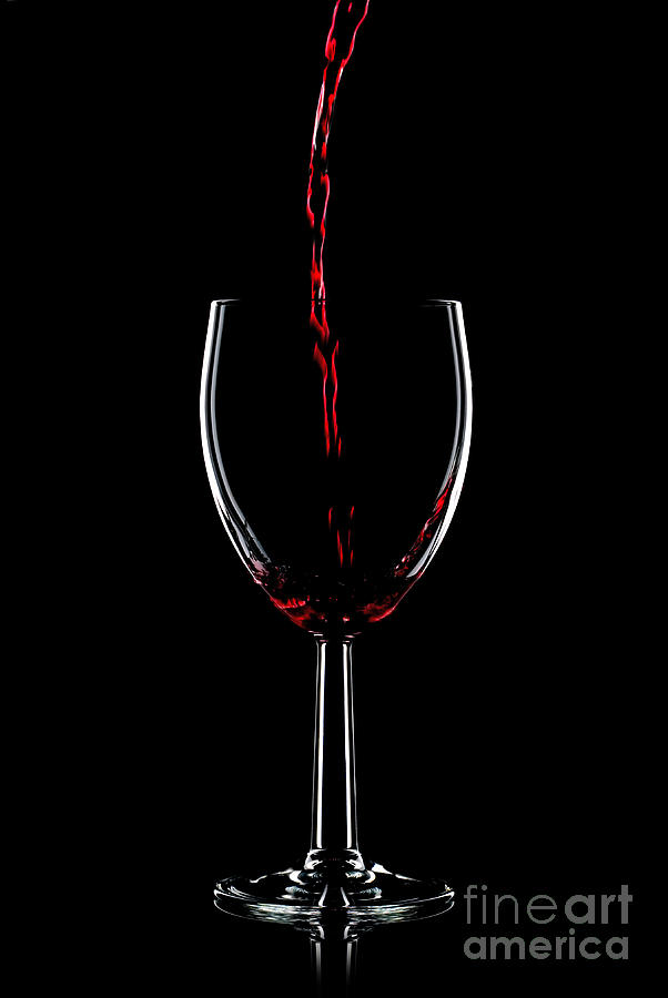 Red Wine Pouring Photograph