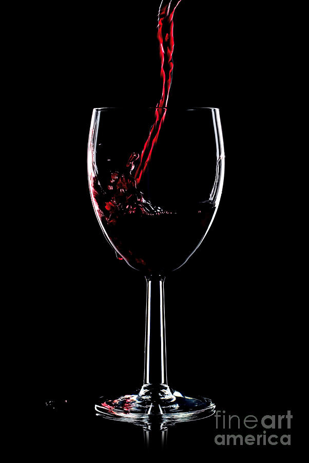 Red Wine Splash Photograph