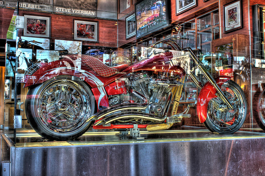 Red Wings Motorcycle Detroit Mi Photograph